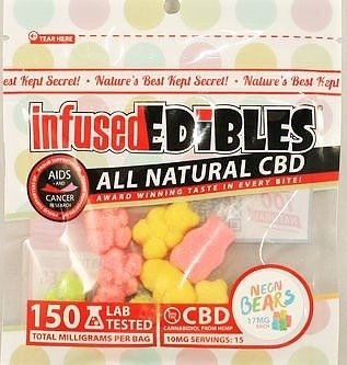 Infused Edibles CBD Gummies 150mg & 300mg Multiple Flavors